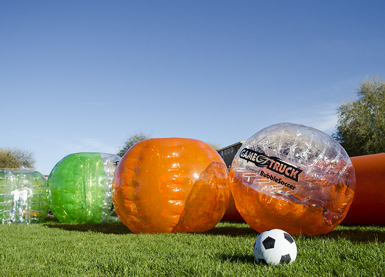 GameTruck powered Bubble Soccer